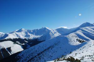Panorama Tatr z Grzesia w Tatrach Zachodnich